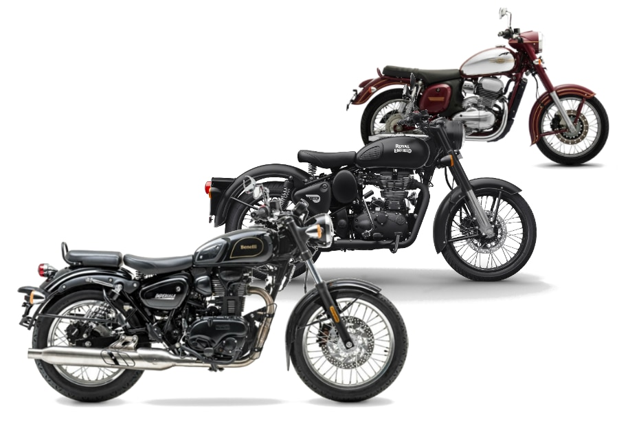 Benelli Imperiale 400 Vs Royal Enfield Classic 350 Vs Jawa Spec Comparison