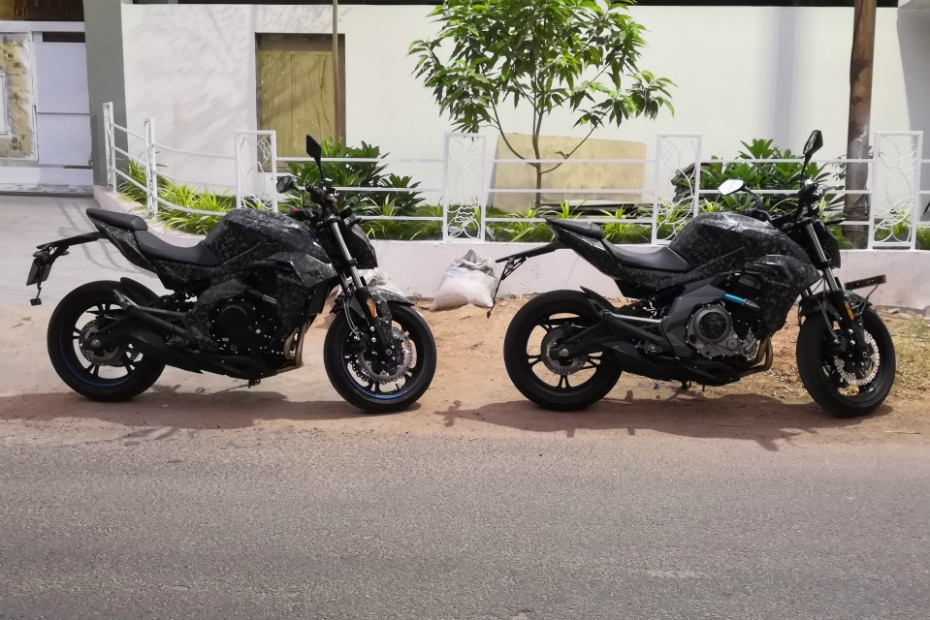 CFMoto 400NK spotted testing in India