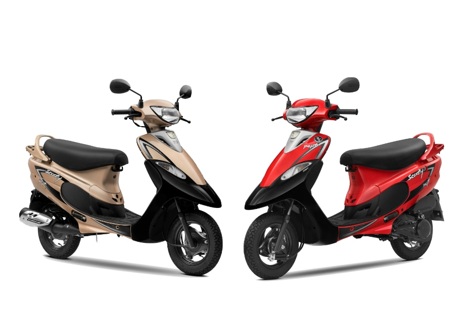 TVS Scooty Pep+ Launched With 2 New Colours