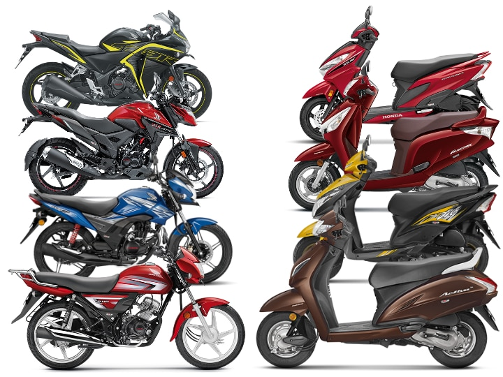 Honda CBS and ABS equipped bikes price list