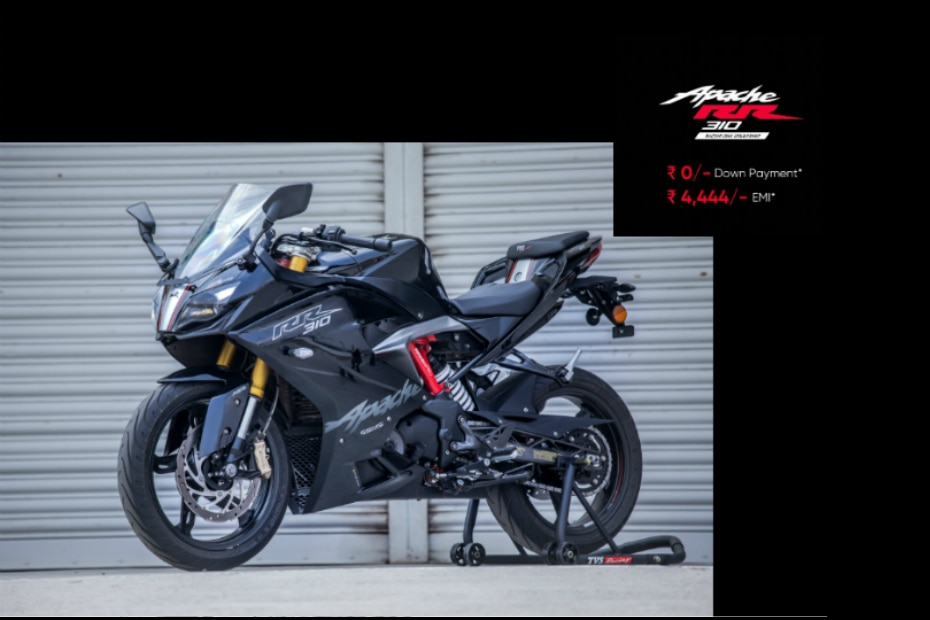 TVS Offers Zero Down Payment Scheme On Apache RR 310 | Gaadi