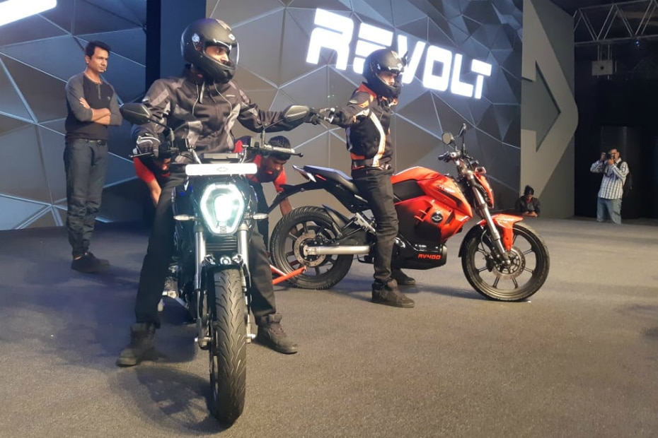 Revolt Unveils The RV 400 Electric Motorcycle