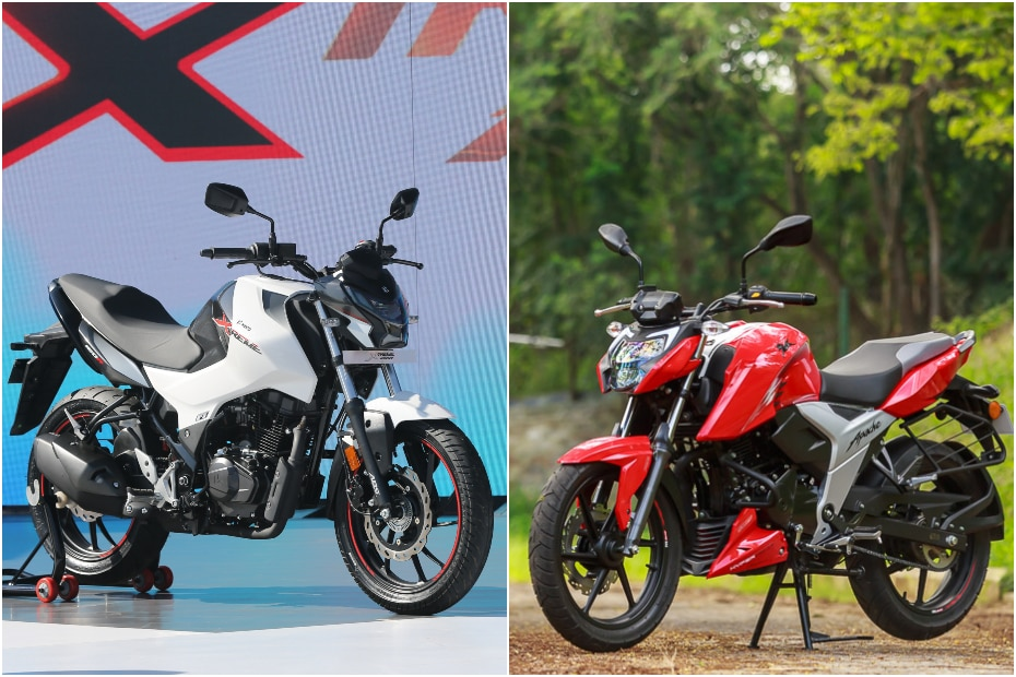 Hero Xtreme 160R vs TVS Apache RTR 160 4V: Image Comparison
