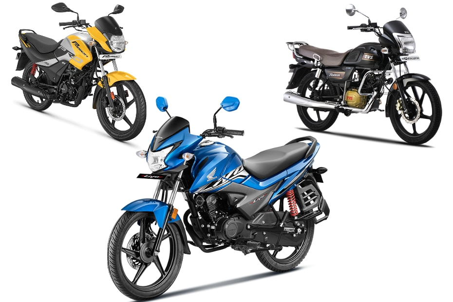 Honda Livo vs TVS Radeon vs Hero Passion Pro: Spec Comparison