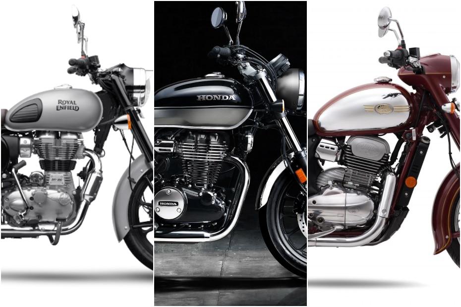 Honda CB350 H'Ness vs Royal Enfield Classic 350 vs Jawa: Spec Comparison