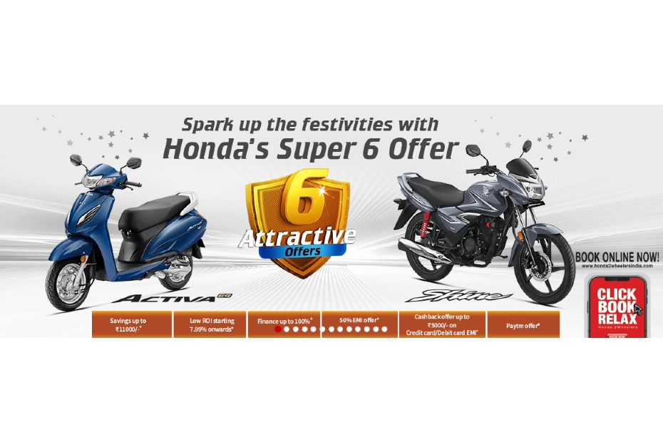Discounts, cashbacks, EMI and PayTM offers, and more are all part of Hondas Super 6 Offer