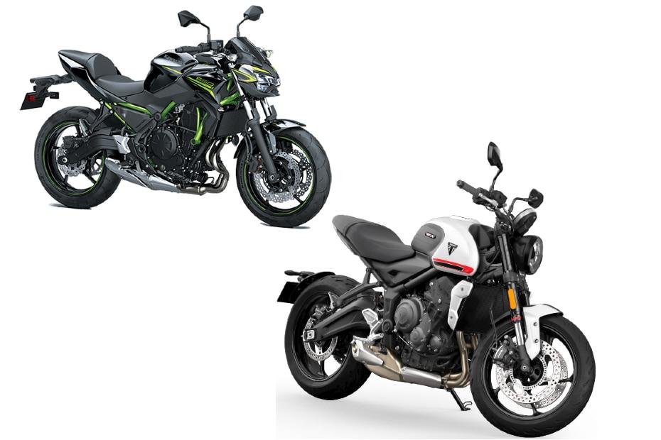 Triumph Trident vs Kawasaki Z650: Image Comparison