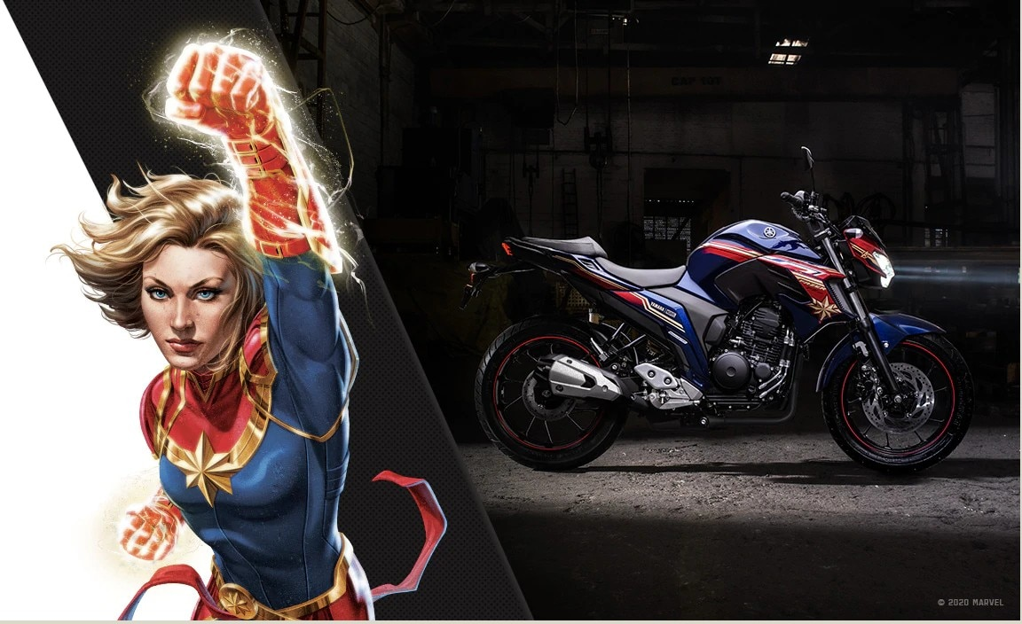 Marvel At These Yamaha FZ25 Superhero-themed Editions