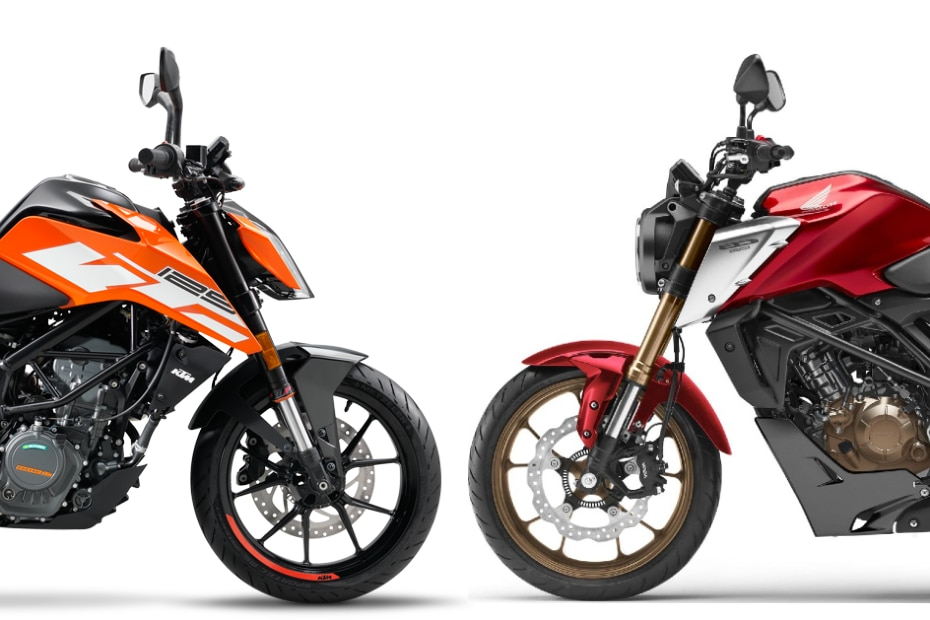 2021 Honda CB125R vs KTM 125 Duke: Image Comparison