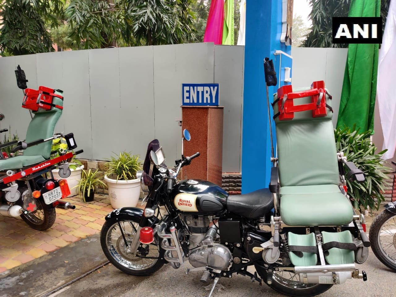An Ambulance On Two Wheels? And Of Course, It's A Royal Enfield