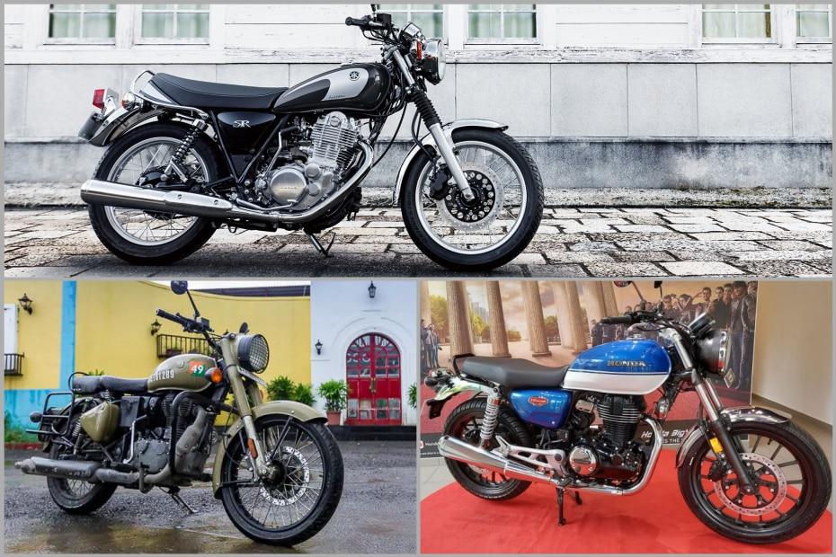 Yamaha SR400 vs Royal Enfield Classic 350 vs Honda H'Ness CB350: Specifications Compared