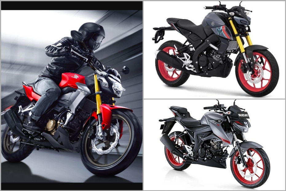 2021 Honda CB150R Streetfire vs Yamaha MT-15 vs Suzuki GSX-S150: Specifications Compared