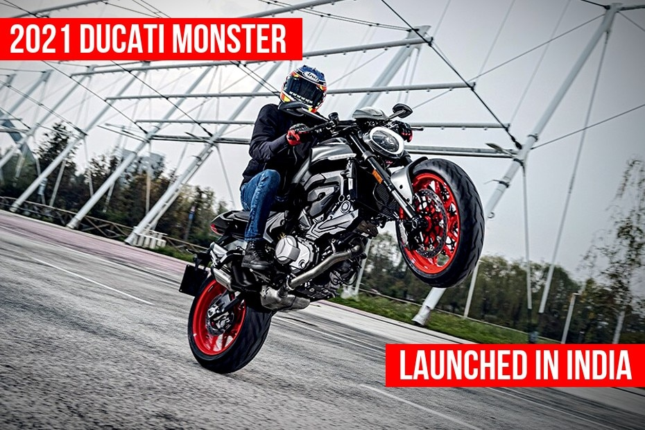 2021 Ducati Monster Launched In India At Rs 10.99 Lakh