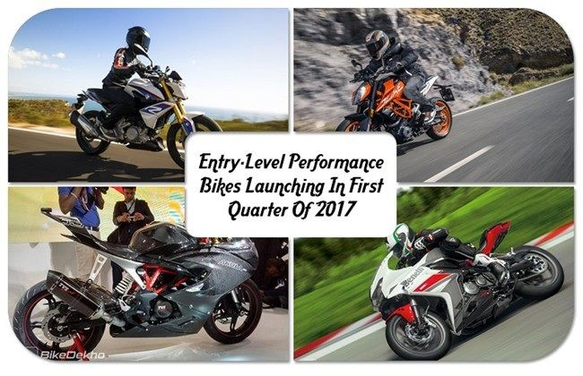 Top Five Entry-Level Performance Bikes Launching In First Quarter Of 2017